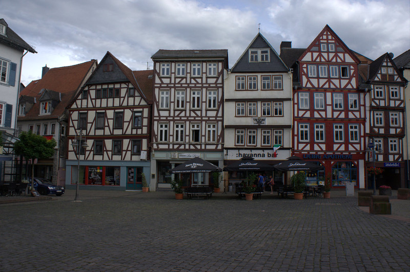 "But right near Bodenrod is the fabulous 16th century town square of Butzbach. This is clearly the ""destination"" of choice for the kids when they have time off. The following pictures give you a sense of the town, which is almost completely renovated (you will see some buildings in process)."