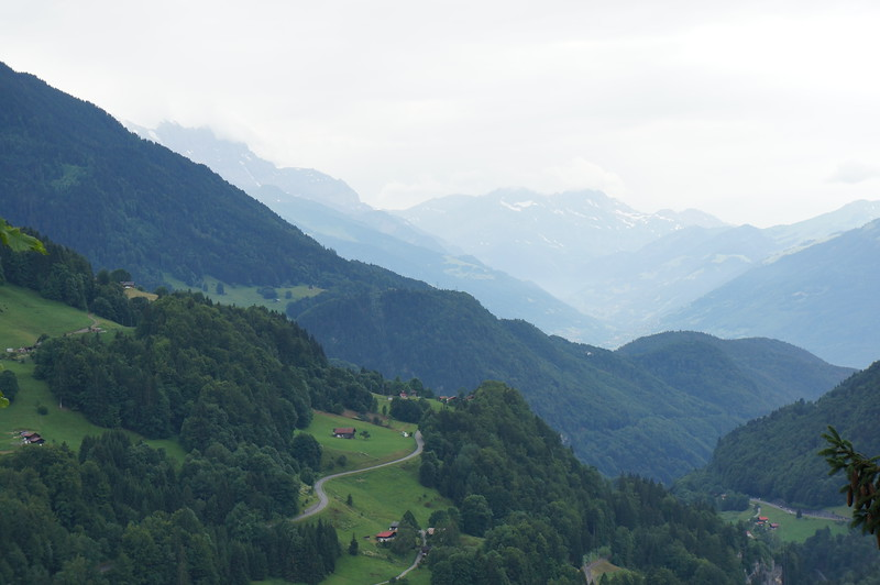The road up toward Gruyere.