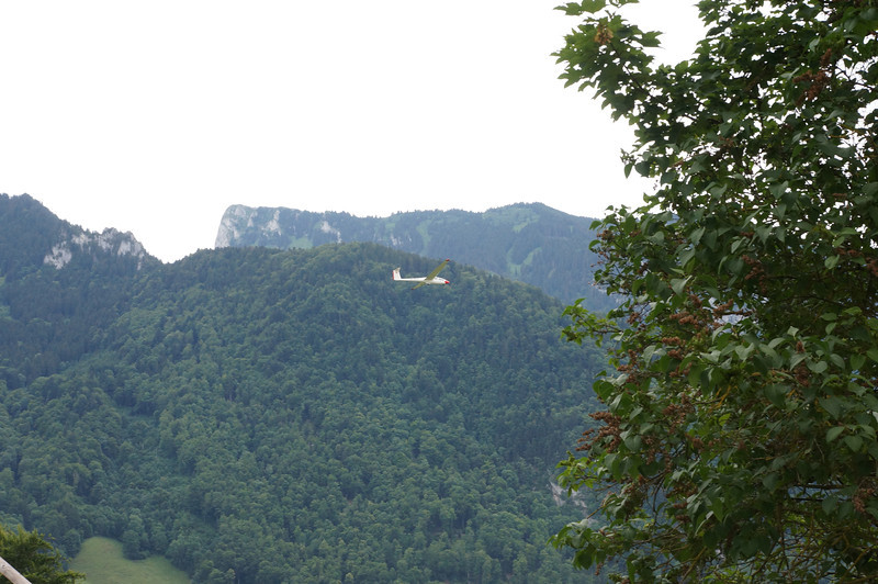 Just as we were walking along the wall of the castle, a glider flew silently by, apparently heading for a landing strip that was in the valley below.
