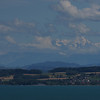 From Neuchatel, this is the view over the lake, with the alps towering in the background.