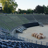Avenches dates back to Roman times. The amphitheater is used during the summers to stage opera...we missed it.