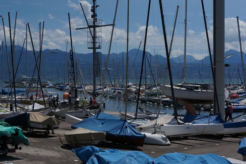 Main port of Lausanne.