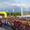 People were gathered for the award ceremony, which takes place on each evening. Orienteering is a hybrid activity: on the one hand, you have to find your way to various touch points using a topographical map and compass, and you have to do it as quickly as possible. Runners are staggered so that they can't follow each other; in effect, you race against the clock.