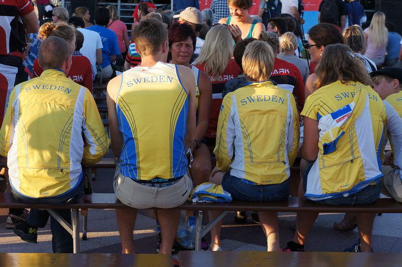 """There were lots of Swedes, and whenever someone from Sweden placed in the top six at the awards ceremony, they demonstrated the most """"organized"""" spirit, with a well coordinated chant."""
