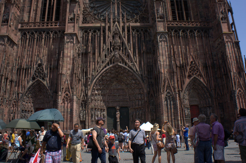 "The Cathedral of Strasbourg (""Strassburg"" in German)."