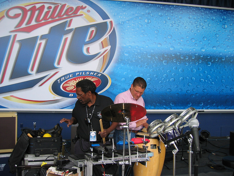 Summerfest execs: Vic Thomas and Don Smiley during soundcheck the morning of the show.
