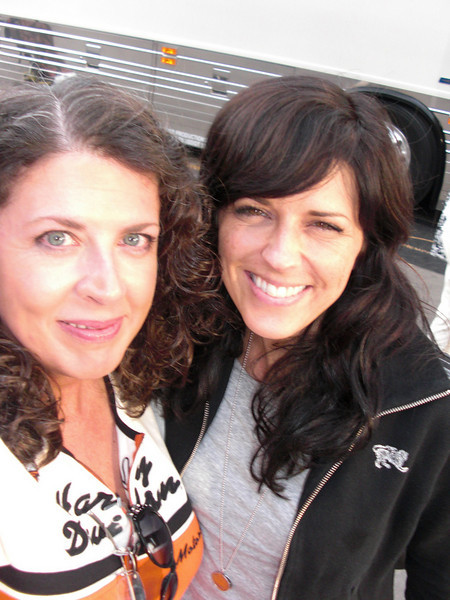 "The headliners that night on our stage were ""Little Big Town"". I love them! Got to meet them, they all signed a tee shirt for me and I got this photo with Karen. A very good day!"