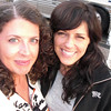 """The headliners that night on our stage were """"Little Big Town"""". I love them! Got to meet them, they all signed a tee shirt for me and I got this photo with Karen. A very good day!"""