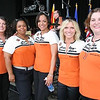 The Smiley Girls before the show: L>R: Alaria Taylor, Jocelyn Young-Buchanan, Rhonda Begos, Windy Hope, Ellen Winters.