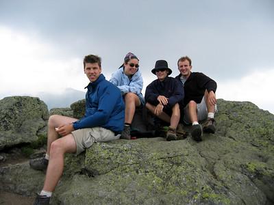 Eric, Nicole, Tim, me, summit of Monroe