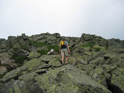 Eric climbing Franklin