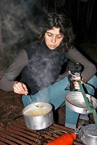 Sarah cooking mac and cheese 2