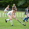 Taysia Hanscome of Gray-New Gloucester High School shoots on goal during Monday's game against Poland Regional High School in Gray.