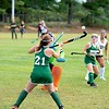 Julia Letourneau of Winthrop high school gets her stick on the ball Friday during the first period against Lisbon High School. Letourneau scored on the play to put the Ramblers up 1-0. Daryn Slover/Sun Journal