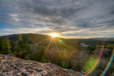 Sunset Rock Highlands North Carolina