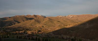 Golden hills panorama