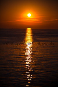 Sunset on a Summer evening. Taken from Brighton Pier, UK