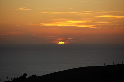Sunset from Abbotsbury Hill 30/11/2013