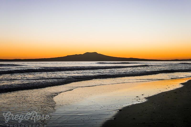 Sunrise , beach and water