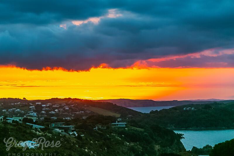 Sunset Glow over Oneroa