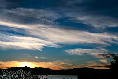 Glorius sunset at Taupo