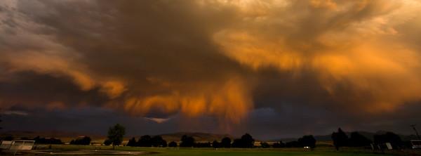 A rainy Sunset in Dillon, Montana.