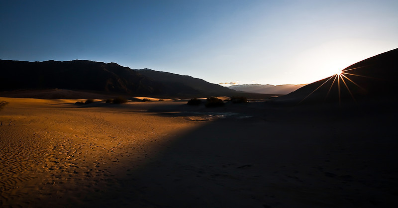 Sunset in Death Valley, California.