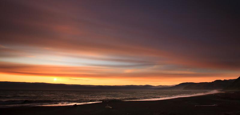 Another Sunset on Matolle Beach, California