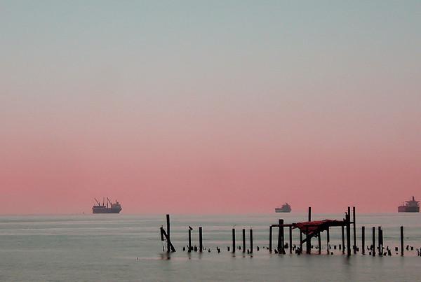 "Sunset in ""Port Angeles"", Washington."