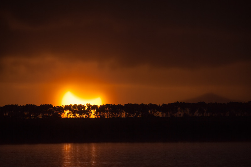 Lake Bolac Partial Eclipse