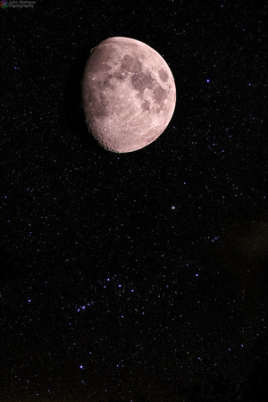 Moon and Orion