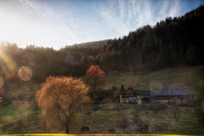 Landschaft bei Burg Rabenstein