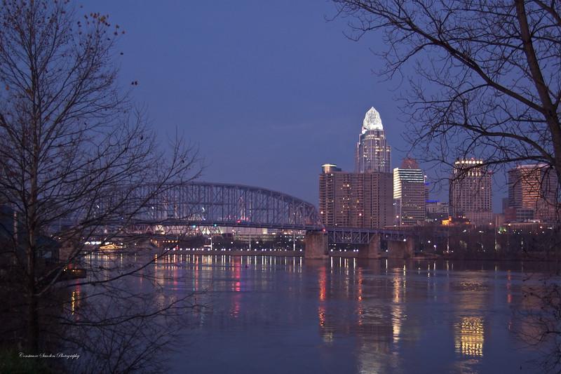 Cincinnati, early morning, from Newport, Kentucky 12/3/2011