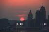 Red Sun Behind Cincinnati