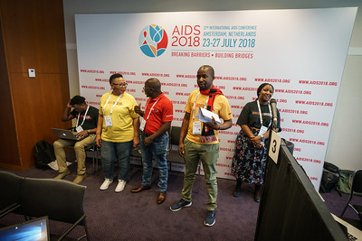22nd International AIDS Conference (AIDS 2018) Amsterdam, Netherlands.   Copyright: Matthijs Immink/IAS  Photo shows: