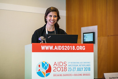 22nd International AIDS Conference (AIDS 2018) Amsterdam, Netherlands.   Copyright: Matthijs Immink/IAS  Photo shows: Chelsea Coakley