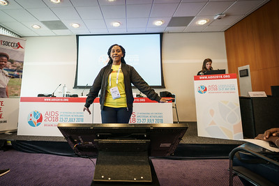 22nd International AIDS Conference (AIDS 2018) Amsterdam, Netherlands.   Copyright: Matthijs Immink/IAS  Photo shows: Taonga Kennedy