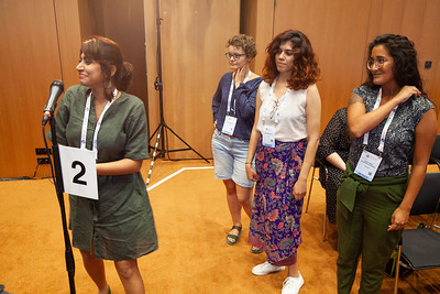 The Netherlands, Amsterdam, 22-7-2018.  Speakers, co-chairs, core group members and audience at Generation Now, Our Health, Our Rights. Some core group members spoke briefly.  Photo: Rob Huibers for IAS. High resolution file. (Please publish always with complete attribution).