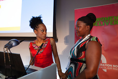 The Netherlands, Amsterdam, 22-7-2018.  Speakers, co-chairs, core group members and audience at Generation Now, Our Health, Our Rights. Femi Oke (l) and Ruth Nahurira.  Photo: Rob Huibers for IAS. High resolution file. (Please publish always with complete attribution).