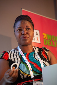 The Netherlands, Amsterdam, 22-7-2018.  Speakers, co-chairs, core group members and audience at Generation Now, Our Health, Our Rights. Ruth Nahurira (Uganda).  Photo: Rob Huibers for IAS. High resolution file. (Please publish always with complete attribution).