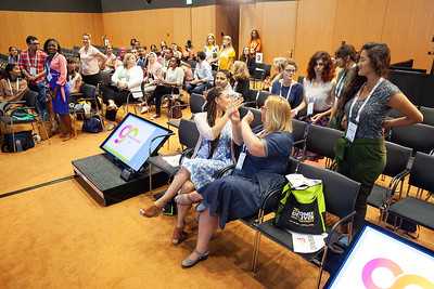The Netherlands, Amsterdam, 22-7-2018.  Speakers, co-chairs, core group members and audience at Generation Now, Our Health, Our Rights. Core group members standing.  Photo: Rob Huibers for IAS. High resolution file. (Please publish always with complete attribution).