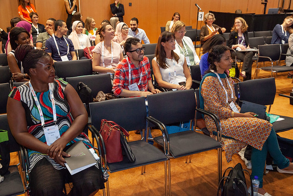 The Netherlands, Amsterdam, 22-7-2018.  Speakers, co-chairs, core group members and audience at Generation Now, Our Health, Our Rights.  Photo: Rob Huibers for IAS. High resolution file. (Please publish always with complete attribution).