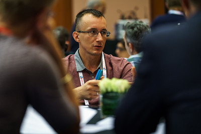 22nd International AIDS Conference (AIDS 2018) Amsterdam, Netherlands.   Copyright: Matthijs Immink/IAS  Case study on 'Adoption' from the Nigeria Implementation Science Alliance (NISA) a collaborative organisation committed to identifying, understanding, measuring and sharing implementation science work in Nigeria   Photo shows (panel left to right):