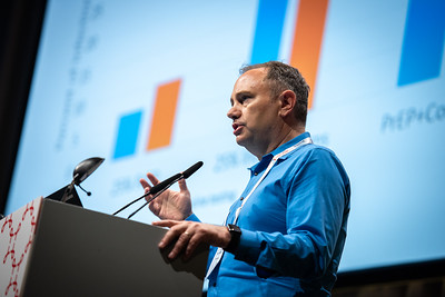 22nd International AIDS Conference (AIDS 2018) Amsterdam, Netherlands.   Copyright: Steve Forrest/Workers' Photos/ IAS  Photo shows: Patrick Sullivan speaking on New media interventions, during the STI 2018 session.