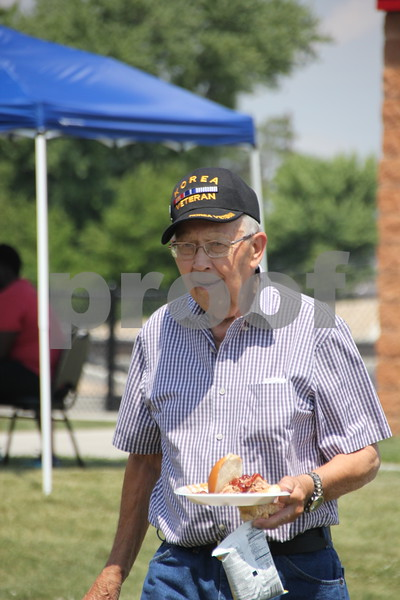 On Sunday, June 12, 2016, Fort Frenzy in Fort Dodge, held the 2nd Annual Hero's Picnic Fundraiser for Forces to raise money for Veteran's assistance programs. Shown is: Charles W. Lumbard enjoying the picnic. He is Korean War Veteran.