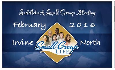 Sunday 02/21/16 Small Group Gathering