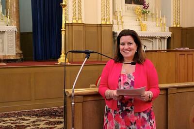 Yn. Arpi Kouzouian, Sunday School Superintendent, offering her remarks