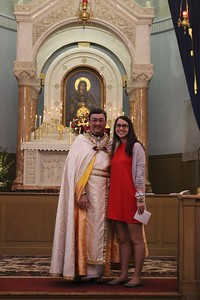 "Rachel Arnold, recipient of ""The Arsha Sarkisian Award"" for ""Outstanding Sunday School Student of the Year."""