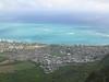 Waimanalo from the top of Mariner's Ridge