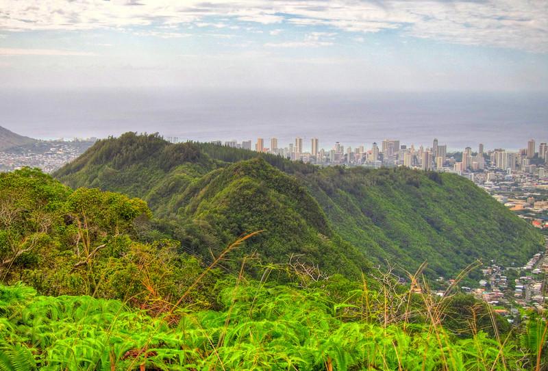 Waahila Ridge with Waikiki in the background